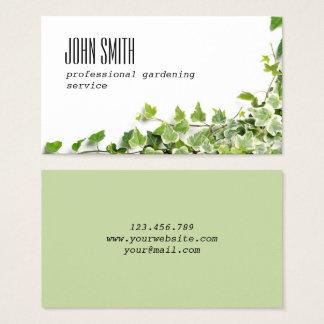 Design com galhos da hera cartão de visitas