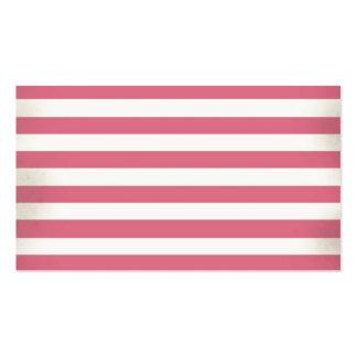 Design cor-de-rosa das listras do vintage cartoes de visita