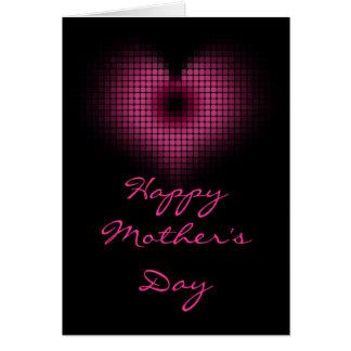 Design cor-de-rosa do coração para o dia das mães cartão comemorativo