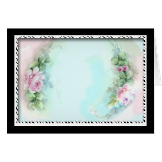 Design cor-de-rosa do estilo do Victorian dos Cartão Comemorativo