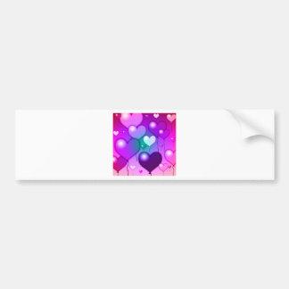 Design cor-de-rosa dos balões dos corações adesivo para carro