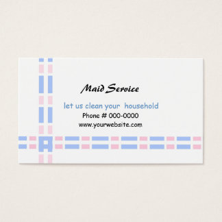 Design cor-de-rosa e azul da relação cartão de visitas