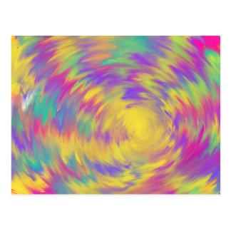 Design cor-de-rosa roxo amarelo da arte abstracta cartão postal