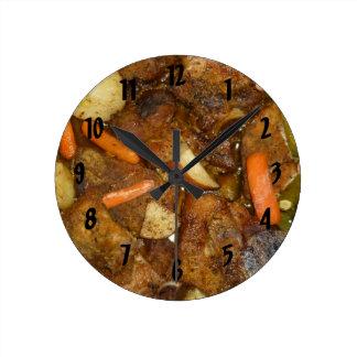 design cozido forno da comida das batatas das relógio para parede