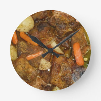 design cozido forno da comida das batatas das relógios de paredes