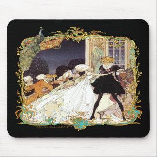 Design da arte do estilo do vintage da bola de tra mousepad