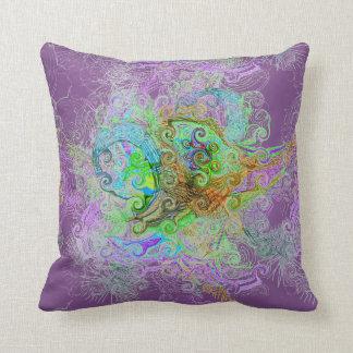 Design da associação livre no travesseiro almofada