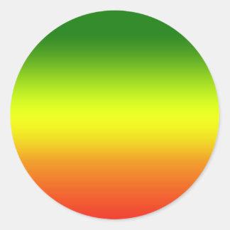 Design da bandeira do arco-íris da reggae adesivo