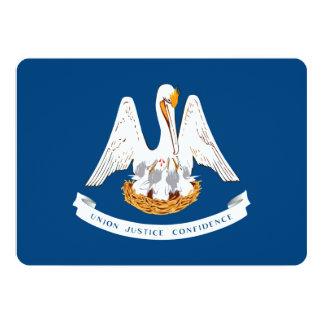 Design da bandeira do estado de Louisiana Convite 12.7 X 17.78cm