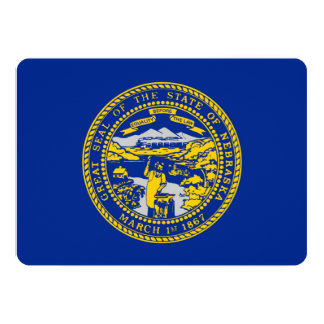 Design da bandeira do estado de Nebraska Convite 12.7 X 17.78cm