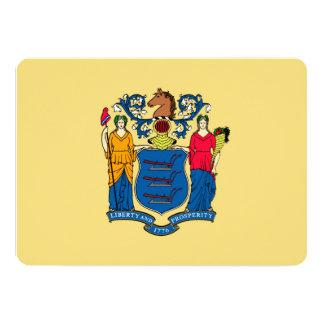 Design da bandeira do estado de New-jersey Convite 12.7 X 17.78cm