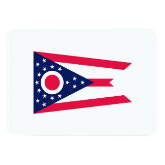 Design da bandeira do estado de Ohio Convite 12.7 X 17.78cm