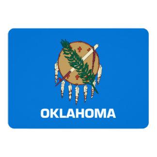 Design da bandeira do estado de Oklahoma Convite 12.7 X 17.78cm