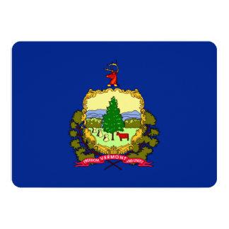 Design da bandeira do estado de Vermont Convite 12.7 X 17.78cm