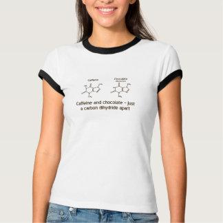 Design da camisa da cafeína e do chocolate