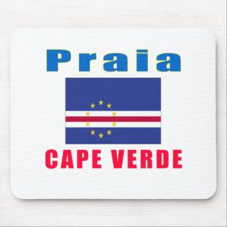 Design da capital de Cabo Verde do Praia Mousepads