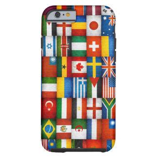 Design da colagem das bandeiras do mundo do Grunge Capa Tough Para iPhone 6