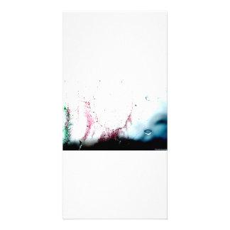 Design da cor de água cartão com foto