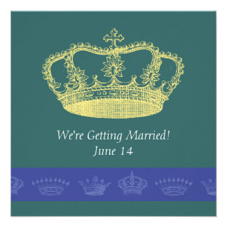 Design da coroa - azul convites