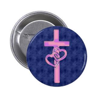 Design da cristandade bóton redondo 5.08cm