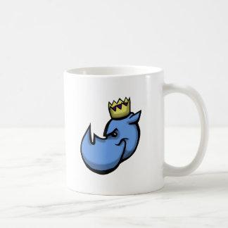 Design da equipe do rei do rinoceronte caneca de café