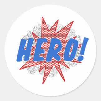Design da estrela do herói adesivo
