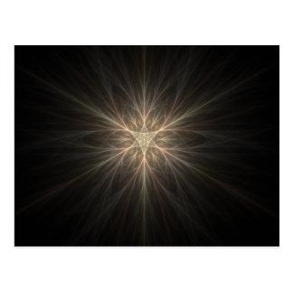 Design da estrela ou do floco de neve do Fractal Cartão Postal