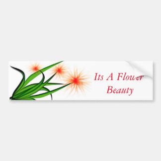 design da flor em uma etiqueta adesivo para carro