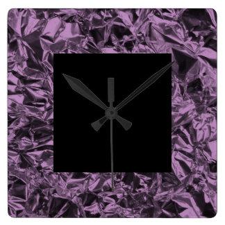 Design da folha de alumínio na lavanda relógios para pendurar