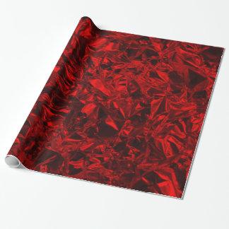Design da folha de alumínio no vermelho papel de presente