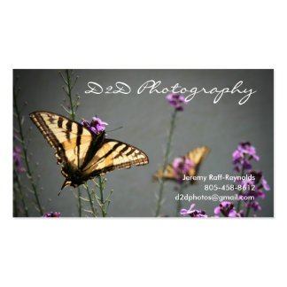 Design da foto da borboleta cartão de visita