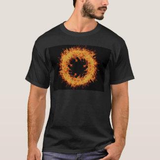 design da grinalda do fogo t-shirts