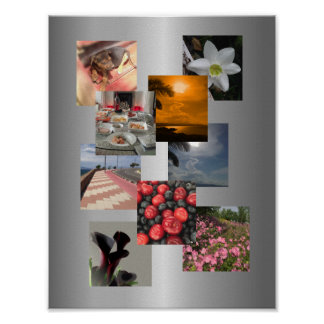 Design da imagem da colagem da foto poster