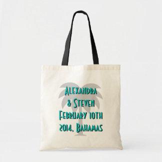 Design da palmeira das sacolas | do casamento do d sacola tote budget