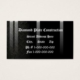 Design da placa do diamante cartão de visitas