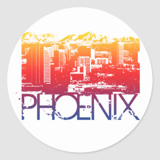 Design da skyline de Phoenix Adesivo