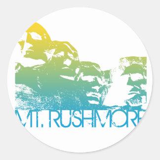 Design da skyline do Monte Rushmore Adesivo
