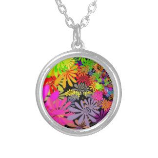 Design das flores do Hippie Colar Banhado A Prata