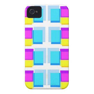 Design de blocos feminino de Babysoft na base bran Capa iPhone 4 Case-Mate