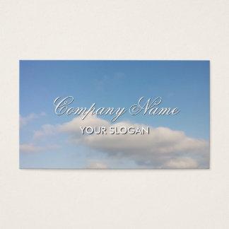 Design de cartão de visita calmo com imagem do céu