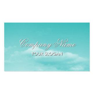 Design de cartão de visita tranquilo com imagem do