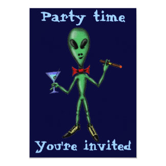 Design de cartão estrangeiro legal engraçado do convite 12.7 x 17.78cm