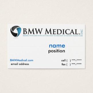 Design de cartão médico de BMW
