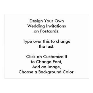 Design de DIY seus próprios convites de casamento Cartão Postal