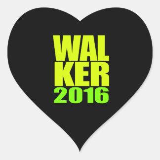 Design de néon do caminhante 2016 adesivo em forma de coração