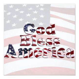 Design de texto da bandeira de América dos deus Convites Personalizados