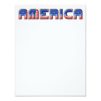 Design de texto de América Convites
