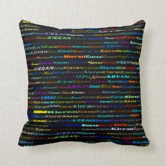 Design de texto de Kieran mim travesseiro Almofada