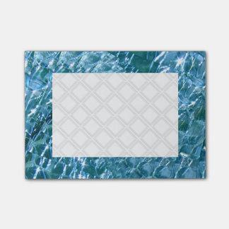 Design de vidro Crackled do redemoinho - topázio Bloco De Notas