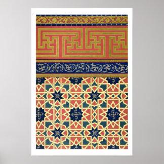 Design decorativo árabe (litho da cor) pôsteres